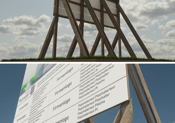 Wooden Billboard for Construction Sites 1