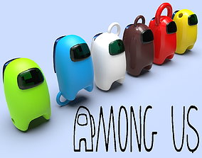 Among us game set keychains 3d model for printing