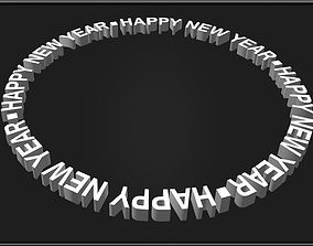 Happy New Year Circle 3D asset