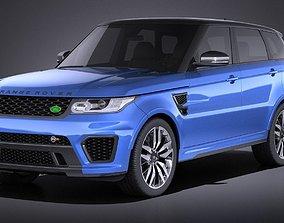 3D model Land Rover Range Rover Sport SVR 2017 VRAY