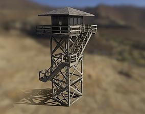 Modular Fire lookout tower PBR 3D asset