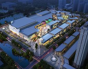 tile City Shopping Mall 3D model