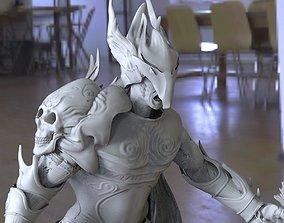 3D model Scull Knight warrior