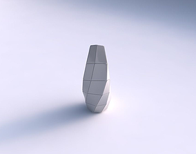 Top squeezed helix with large plates 3D printable model