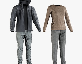 Mens and Womens Clothing Collection 6 3D