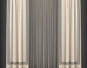 Curtain 3D model 169 VR / AR ready