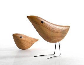 3D Mid Century Danish Modern Wooden Birds