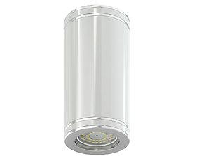 White Cylindrical Light 3D Model lamp
