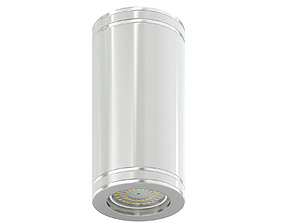 White Cylindrical Light 3D Model lamp