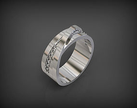 3D print model Wedding Ring with 14 gems