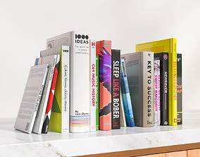 A group of fiction books 3D