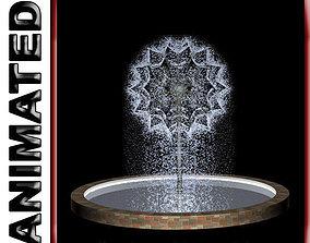 Animated Dandelion Fountain 3D