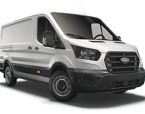 3D model Ford Transit Van L2H1 Leader 2021