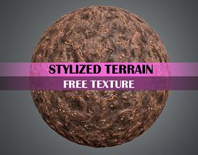 Stylized Terrain Texture 3D asset