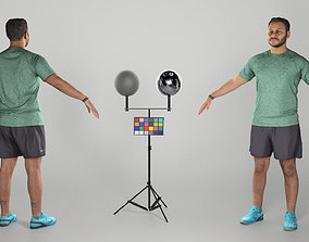 Handsome man in sportswear ready for animation 3D asset