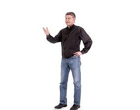 Casual Man Standing Talking CMan0223-HD2-O01P01-S 3D model