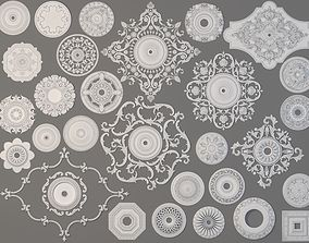Rosettes Collection -1 - 29 pieces 3D