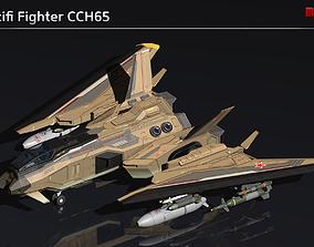 3D asset Scifi Fighter CCH65