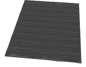 Black Stripped Rug 3D