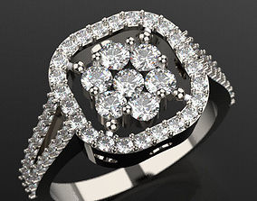 Beautiful brilliant ring 3D print model