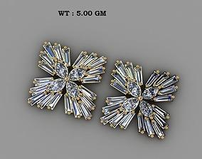 taper marquise Diamond earing 3D printable model