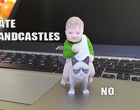 Success Kid on Grumpy Cat 3D print Meme