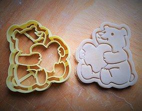 3D print model Teddy bear cookie cutter v3