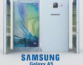 Samsung Galaxy A5 Cyan 3D