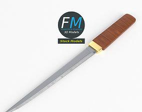 3D Japanese tanto knife