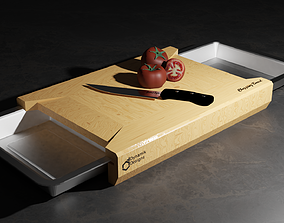 Chopping Cutting Board with Trays 3D