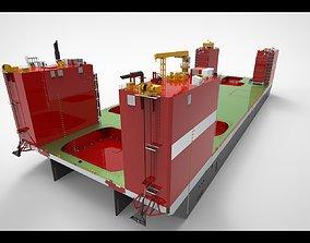 3D model floating dock