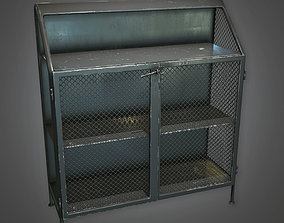 3D asset Metal Closet Antiques - ATQ - PBR Game Ready
