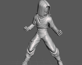 Android 17 Dragon Ball 3D Model
