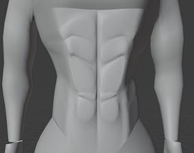 MALE MASH male abs 3D model