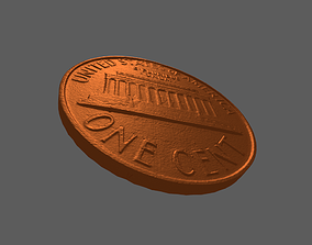 one cent lincoln memorial 3D printable model