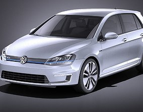 Volkswagen e-Golf 2016 VRAY 3D