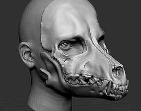 3D print model Dog Skull Scary mask for cosplay
