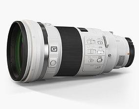 Sony 300mm f 2-8 G SSM II Telephoto Prime Lens 3D asset