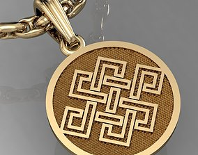 pendant with symbols - with or 3D printable model 1