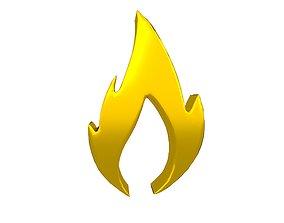 3D model Fire Symbol v10 012