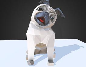 3D asset Dog Pug