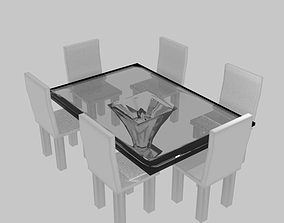 3D asset Dining Table Glass Material