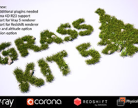 Grass Kit 5 for C4D - Vray Redshift Corona Physical 3D