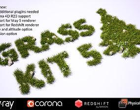 Grass Kit 5 for C4D - Vray Redshift Corona 3D model