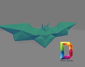 batman logo lowpoly 3D printable model