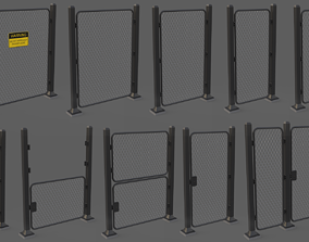 Iron Fence 3D Models game-ready
