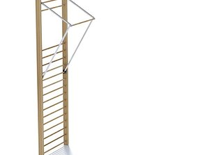 Workout Ladder With Chin Up Bar 3D model