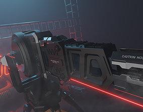 Sci - Fi Sentry Gun 3D sci-fi
