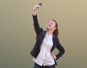 Nelly 10337 - Business Girl Taking Selfie 3D asset