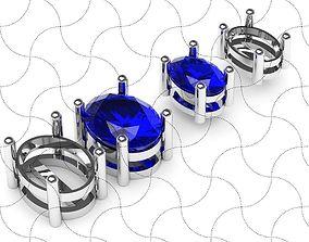 3D print model Oval studs earrings 2 sizes